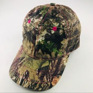 Mossy Oak Woman's Camo Hunting Mesh Hat Adjusts